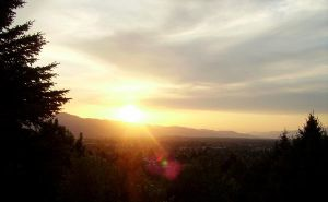 The Sun Sets In Missoula II by Slowlydying