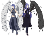 CM: Konan and her mother by Ria02716