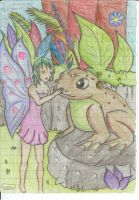 Fairy and a Frog by mxmxm