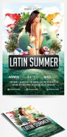 Latin Summer Party Flyer by saltshaker911
