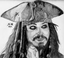 Captain Jack Sparrow by Shigdioxin