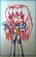 Sky T Echidna Lineart by Sky-The-Echidna