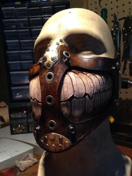 Leather Grin mask by Skinz-N-Hydez
