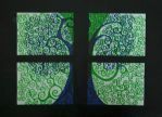 Green and Blue - Tree Series by fearblank