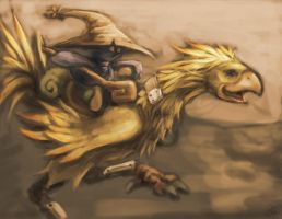 chocobo rider by AlivanArt