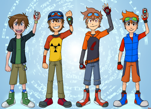 Goggle Boys Across The Multiverse by demonoflight
