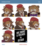 Mr.Smoke and Co Telegram Stickers by Defago