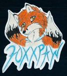 Foxxpaw Badge by MistingWolf