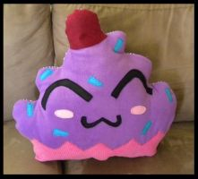 Happy Cupcake Pillow by StuffItCreations