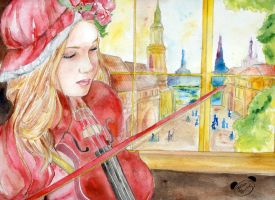 The Violinist by PandaG
