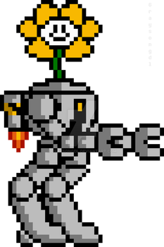 Flowey in a Mech Suit by Graysongdl