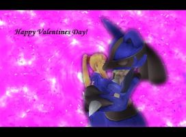 Lucario and Samus: Valentine by Barto22