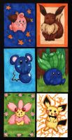 Pokemon ACEOs by bittykitty