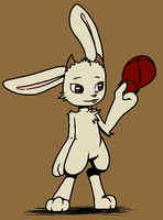 Sal the Jackalope by VedtheFlameDevil