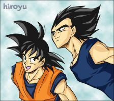 Goku and Vegeta 12 by hiroyu732