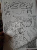 Guy with glasses manga page by GSPARRowdeathlegend