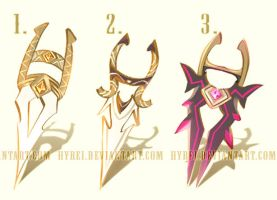 Auction : Weapon Adopt Set 5 [CLOSED] by HyRei