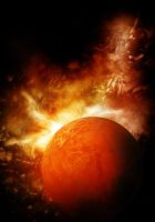 Planet on fire by Luuk1988