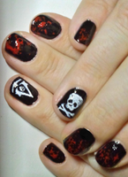 Assassin's Creed Black Flag Nailart by MariaIla