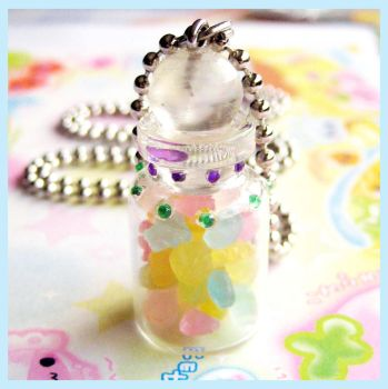 Candy Jar Necklace by cherryboop