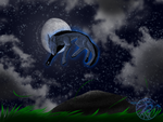 moon fithg by garasnegras