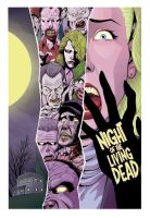 Color Night of the Living Dead poster by J-WRIG