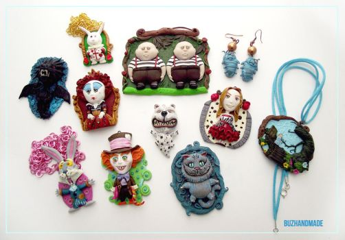 Alice in Wonderland Clay Collection by buzhandmade