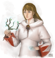 Istarelle, the white mage by Maiden-In-Black