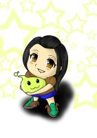 Chibi Chanelle with Poring by kevzter