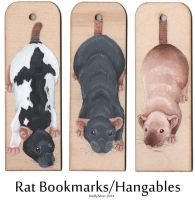 Rat Bookmarks by wolfysilver