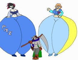 Dueling Butts by blackmage20