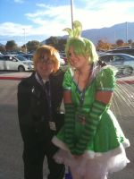 Anime Banzai 2012 Flying Mint Bunny and England by Fainting-Ostrich