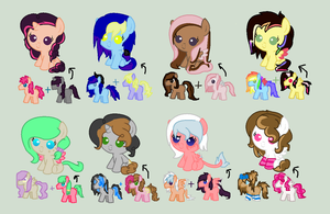 Fusion Foals Adoptables - READ DESCRIPTION NOW! by iPandacakes