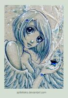 blue star angel - ACEO Nr. 174 by Apfelkeks