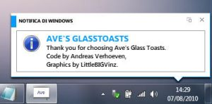 Modern UI skin for Glasstoast by metrovinz