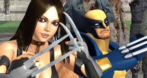 X23 and Wolverine VS Zombies IV by cablex452