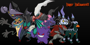 Happy Halloween Pokemon Style by JessicaBane501