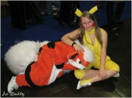 cosplay: Pikachu and Growlithe by Isi-Daddy