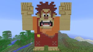 Wreck-It Ralph in Minecraft by superslinger2007