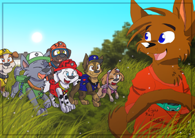 Wido meets the Paw Patrol by DorteTorte
