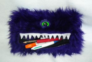Purple Monster Pencil Case by StuffItCreations