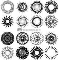 Geometric Circle Design Vector Art by 123freevectors