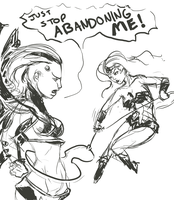 Silver Swan and Wonder Woman r by catturd