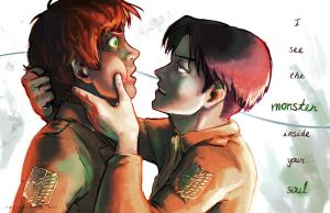 Eren and Levi by TheHauntedBoy