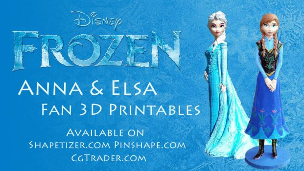 Frozen 3d Printable Banner by daylightdreams