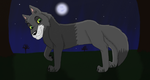 Lonewolf in the Moonlight by SolitaryGrayWolf