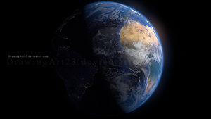 Earth 3D-1 by DrawingArt23