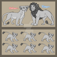 P2U Lion Breedable Lineart -PAINTFRIENDLYVERSION- by ProtoSykeLegacy