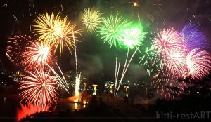 colorfull fireworks by kitti-restART