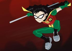 Robin in Action by FreefallandGigan